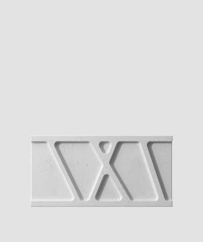 VT - PB24 (S96 ciemny szary) Moduł W- panel dekor 3D beton architektoniczny