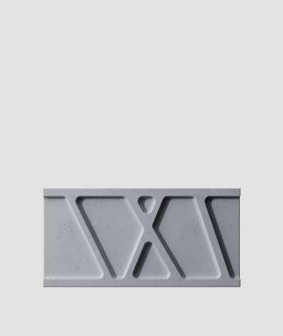 VT - PB24 (B8 anthracite) Module W - 3D architectural concrete decor panel