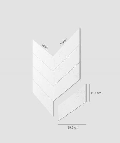 VT - PB35 (BS snow white) HERRINGBONE - architectural concrete decor panel