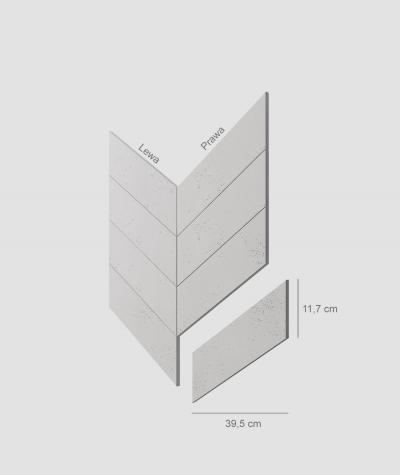 VT - PB35 (B1 gray white) HERRINGBONE - architectural concrete decor panel