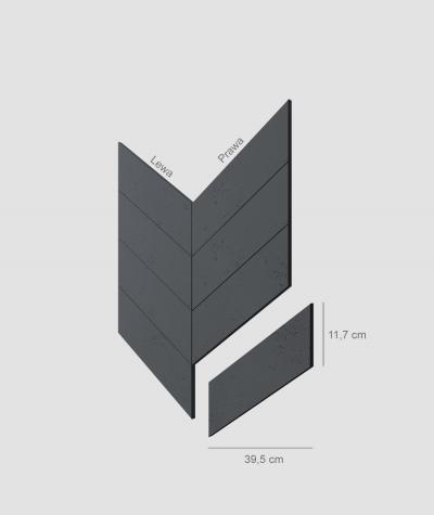 VT - PB35 (B15 black) HERRINGBONE - architectural concrete decor panel