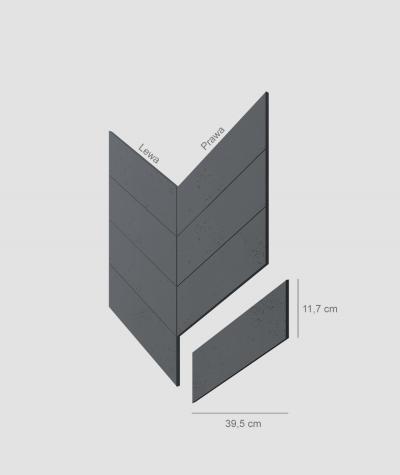VT - PB35 (B8 anthracite) HERRINGBONE - architectural concrete decor panel