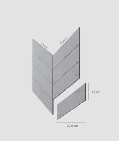 VT - PB35 (S96 dark gray) HERRINGBONE - architectural concrete decor panel
