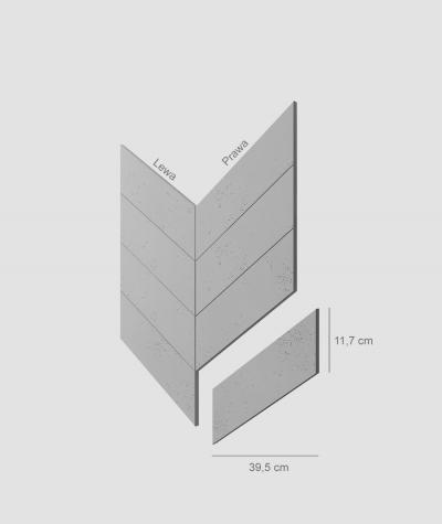 VT - PB35 (S95 light gray - dove) HERRINGBONE - architectural concrete decor panel