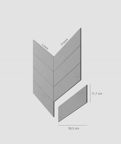 VT - PB35 (S51 dark gray - mouse) HERRINGBONE - architectural concrete decor panel