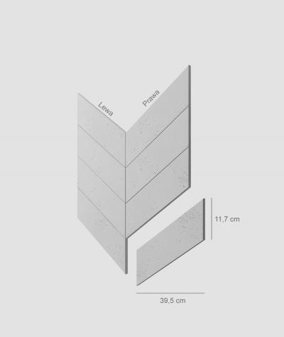 VT - PB35 (S50 light gray - mouse) HERRINGBONE - architectural concrete decor panel