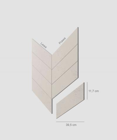 VT - PB35 (KS ivory) HERRINGBONE - architectural concrete decor panel