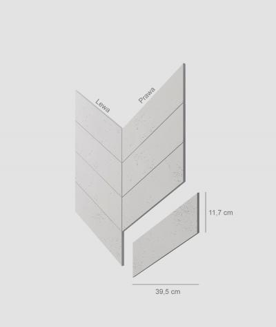 VT - PB35 (B0 white) HERRINGBONE - architectural concrete decor panel