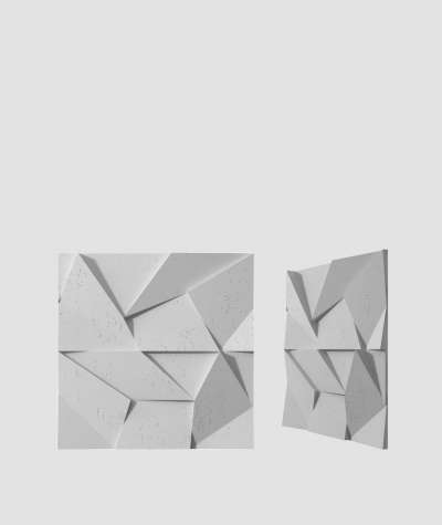 VT - PB06 (S96 szary ciemny) ORIGAMI - panel dekor 3D beton architektoniczny