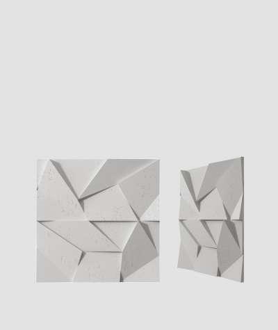 VT - PB06 (S51 szary ciemny - mysi) ORIGAMI - panel dekor 3D beton architektoniczny