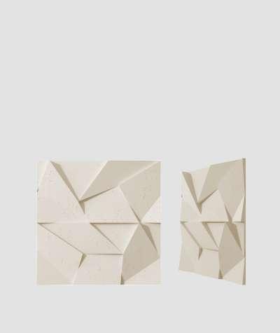 VT - PB06 (KS kość słoniowa) ORIGAMI - panel dekor 3D beton architektoniczny