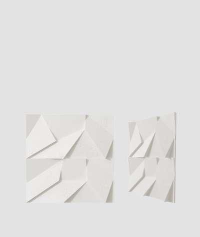 VT - PB06 (BS śnieżno biały) ORIGAMI - panel dekor 3D beton architektoniczny