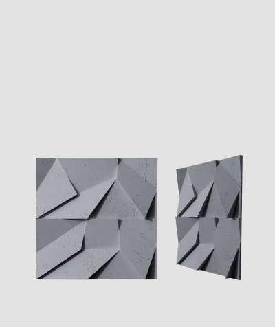 VT - PB06 (B8 anthracite) ORIGAMI - 3D architectural concrete decor panel
