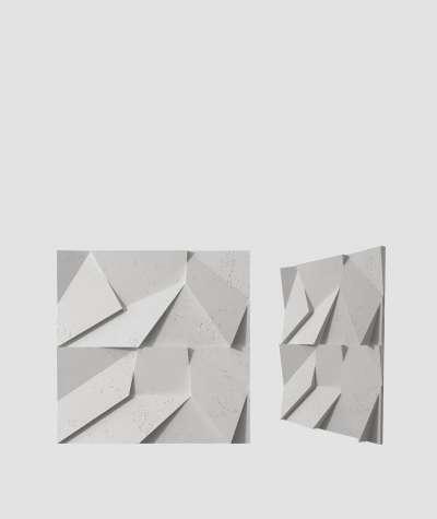 VT - PB06 (S51 dark gray - mouse) ORIGAMI - 3D architectural concrete decor panel