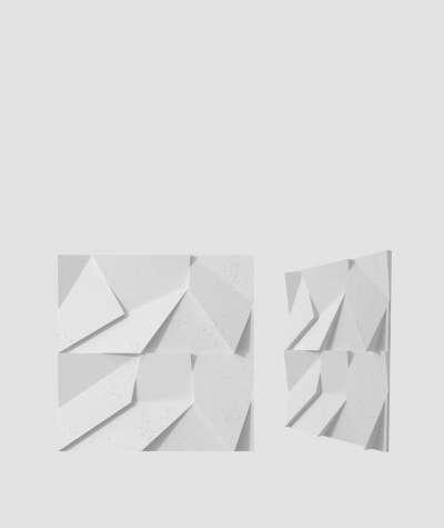 VT - PB06 (B1 siwo biały) ORIGAMI - Panel dekor 3D beton architektoniczny