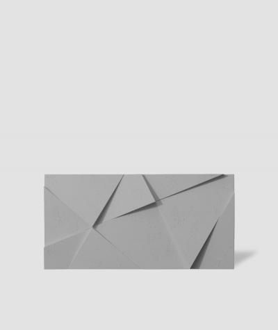 VT - PB05 (S51 ciemny szary - mysi) KRYSZTAŁ - panel dekor 3D beton architektoniczny