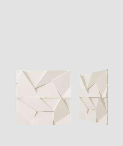 VT - PB06 (B0 biały) ORIGAMI - panel dekor 3D beton architektoniczny