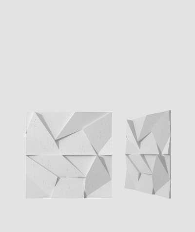 VT - PB06 (S50 light gray - mouse) ORIGAMI - 3D architectural concrete decor panel