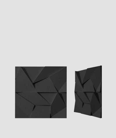 VT - PB06 (B15 czarny) ORIGAMI - panel dekor 3D beton architektoniczny