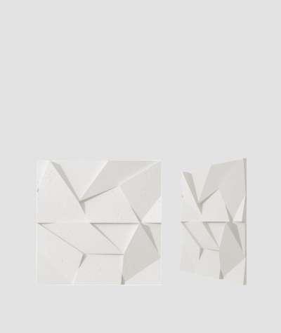 VT - PB06 (BS snow white) ORIGAMI - 3D architectural concrete decor panel