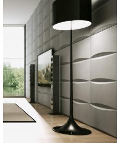 PB20 (B0 white) BLOCK - 3D architectural concrete decor panel