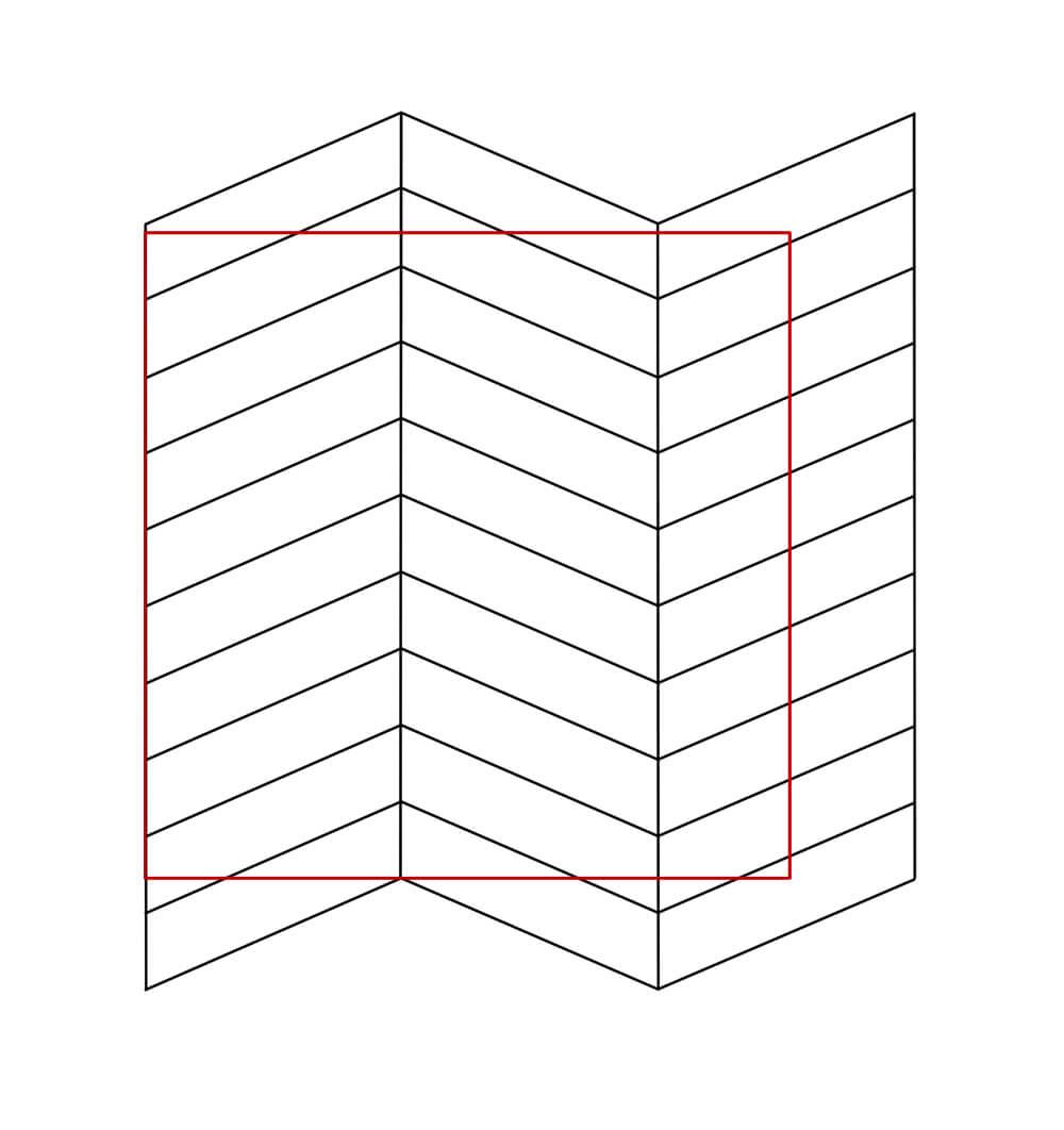 jodełka schemat rozmieszczenia na 1 m2